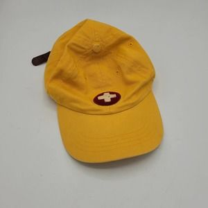 American Eagle Yellow Leather Strap Back Dad Cap